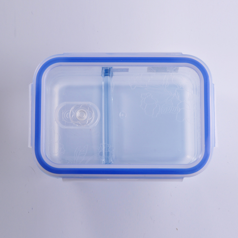 glass container with lid
