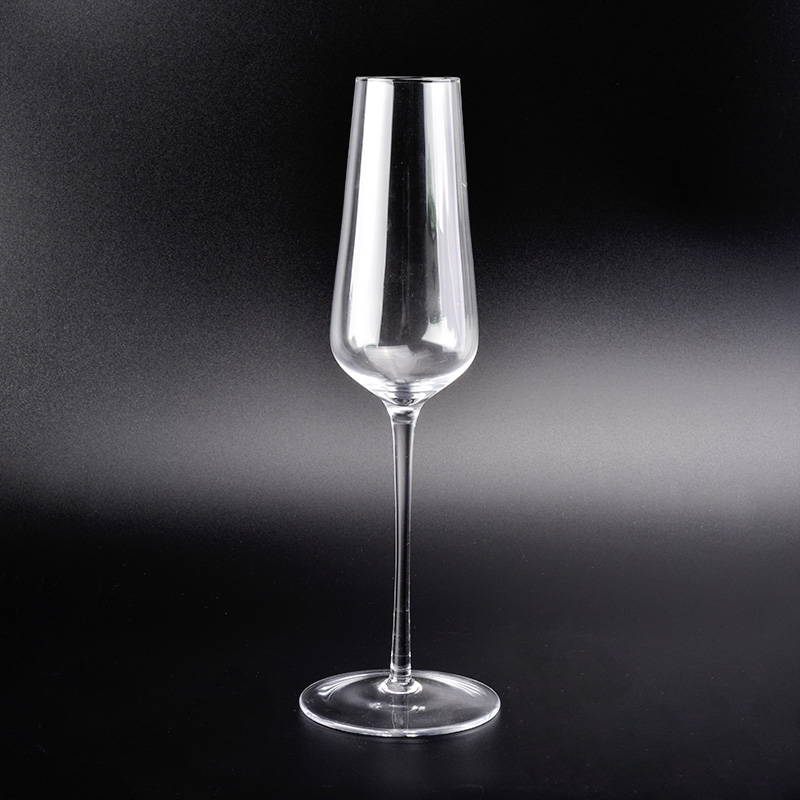 Hand blown champagne glass