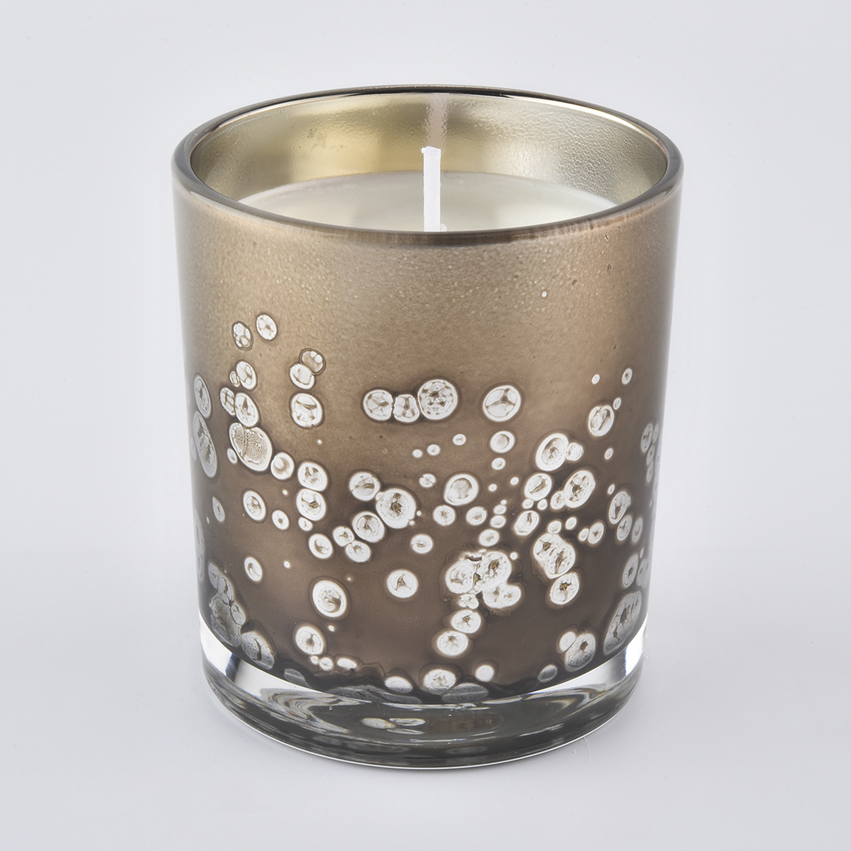 Special decoration Amber Brown Glass Jars For Candle Making