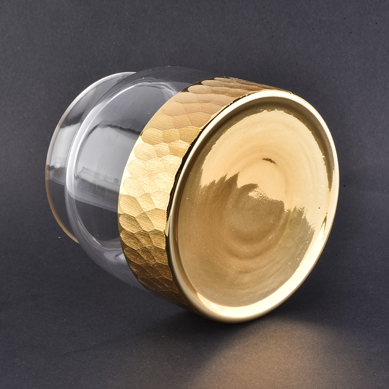 New product unique metal cutting design candle jar