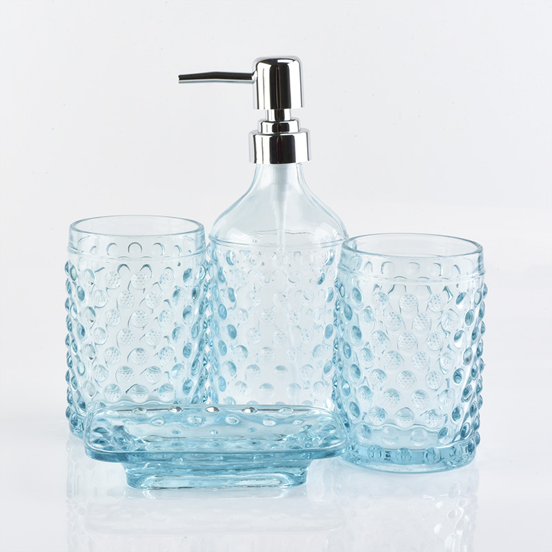 Newly beautiful glass bathroom set for home dec