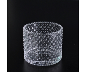 410ml hobnail glass candle holder