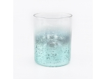10oz light green mercury electroplating glass candle holder soy wax candle jar for home decor