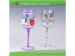 2013 Unique Design Hot Hand Painted Wine Glasses