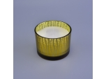 3 Wicks Glass Candle Container