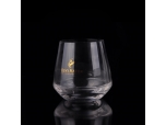 390ml gold stamping egg shape whisky glass wholesale