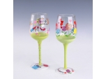 400ml hand painted glass