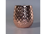 rose gold aluminium pineapple jar for candles