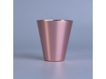 95ml aluminium metal rose gold wide mouth candle holder