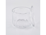 9oz clear glass candle container candy glass jar home decoration vessel