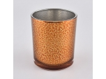 Amber Color Sprayed Glass Candle Jars Wholesale