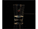 Glass tumbler with ripple pattern