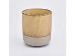 Glazing Ceramic Candle Holders with Natural Bottom