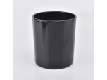 Gloss Black Candle Glass Holder Wholesale