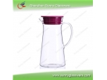 High Borosilicate Glass Water Pot with colorful lid