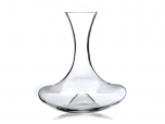 High capacity crystal clear glass wine decanter
