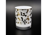 Luxury White Glass Jar For Candle Making Wholesale