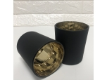 Matte Black And Gold Plating Candle Holders