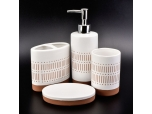 Modern bathroom accessory set white color