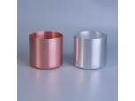 Popular fancy rose gold aluminium candle jars in cheap price