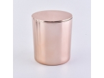 Rose Gold Glass Candle Jars