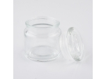 Wholesale glass candle containers transparent glass jar for home decor