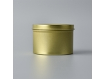 gold color metal candle jar with lid