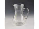 glass water jug with handle