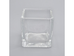 mini square glass 70ml candle holders