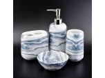 wholesale beautiful design of ceramic bath gift sets for home decoration